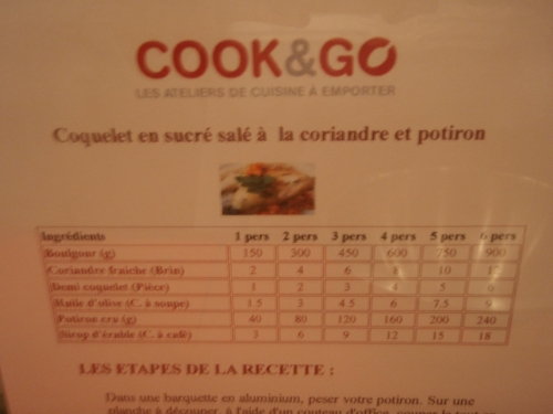 cook and go,cours de cuisine