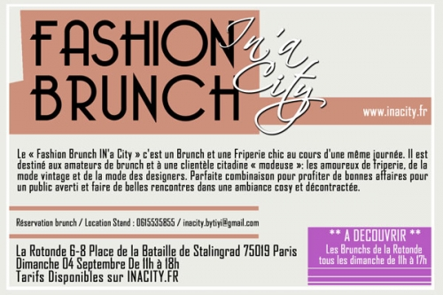 Fashion brunch, La rotonde, vente solidaire, association Macaq, Evénement Oasis