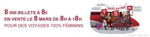 Thalys, promo journée de la femme, bon plan thalys, bon tuyau thalys
