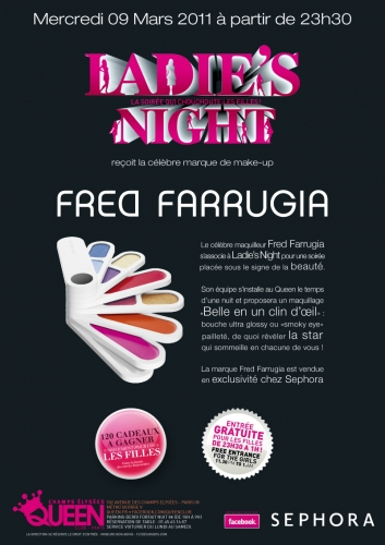 ladies night, Fred Farrugia, Sephora, Pink Paradise
